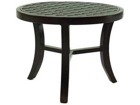 Castelle Classical Cast Aluminum 24 - 26 Round Occasional Table