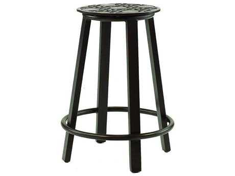 Castelle Classical Cast Aluminum Counter Height Stool PFSCQ14