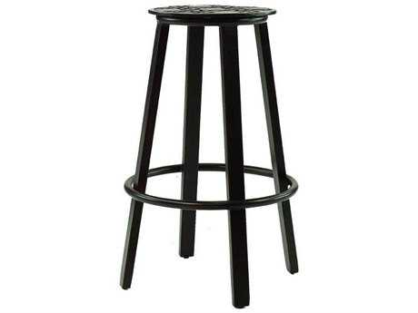 Castelle Cast Stools Cast Aluminum Bar Height with seat cushion
