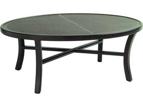 Castelle Classical Cast Aluminum 49.5 x 34 Elliptical Coffee Table