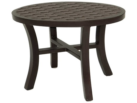 Castelle Classical Cast Aluminum 24-26W x 21D Elliptical Occasional Table