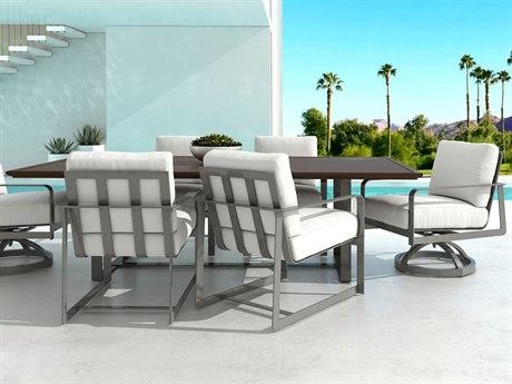 Castelle Solstice Cushion Aluminum Dining Set