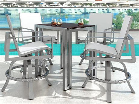 Castelle Solstice Sling Dining Aluminum Counter Set