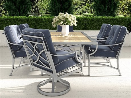 Castelle Sonesta Cushion Cast Aluminum Dining Set