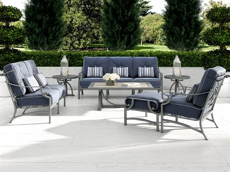 Castelle Sonesta Deep Seating Cast Aluminum Lounge Set