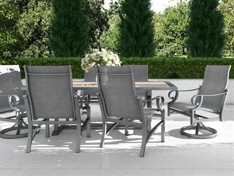 Castelle Sonesta Sling Cast Aluminum Dining Set