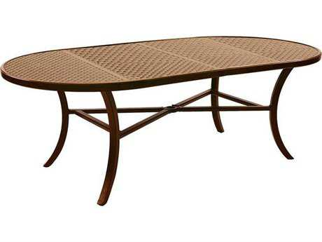 Castelle Classical Cast Aluminum 84-86W x 44D Oval Dining Table