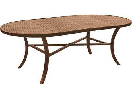 Castelle Classical Cast Aluminum 84-86W x 44D Oval Dining Table Ready to Assemble