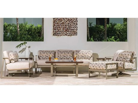 Castelle Solstice Deep Seating Aluminum Conversation Lounge Set