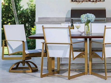 Castelle Solstice Sling Aluminum Dining Set