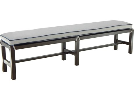 Castelle Classical Cast Aluminum Bench with seat pad