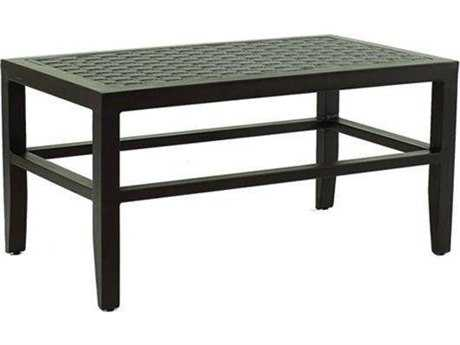 Castelle Classical Cast Aluminum 34-37.5W x 18-21.5D Small Rectangular Coffee Table