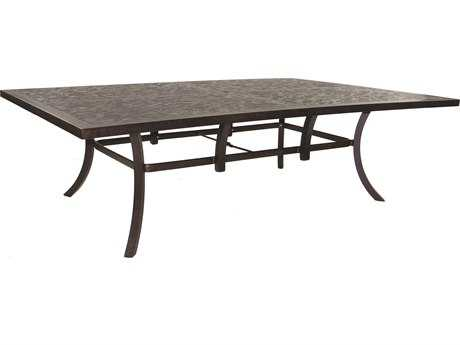 Castelle Classical Cast Aluminum 96 x 64 Rectangular Dining Table Ready To Assemble