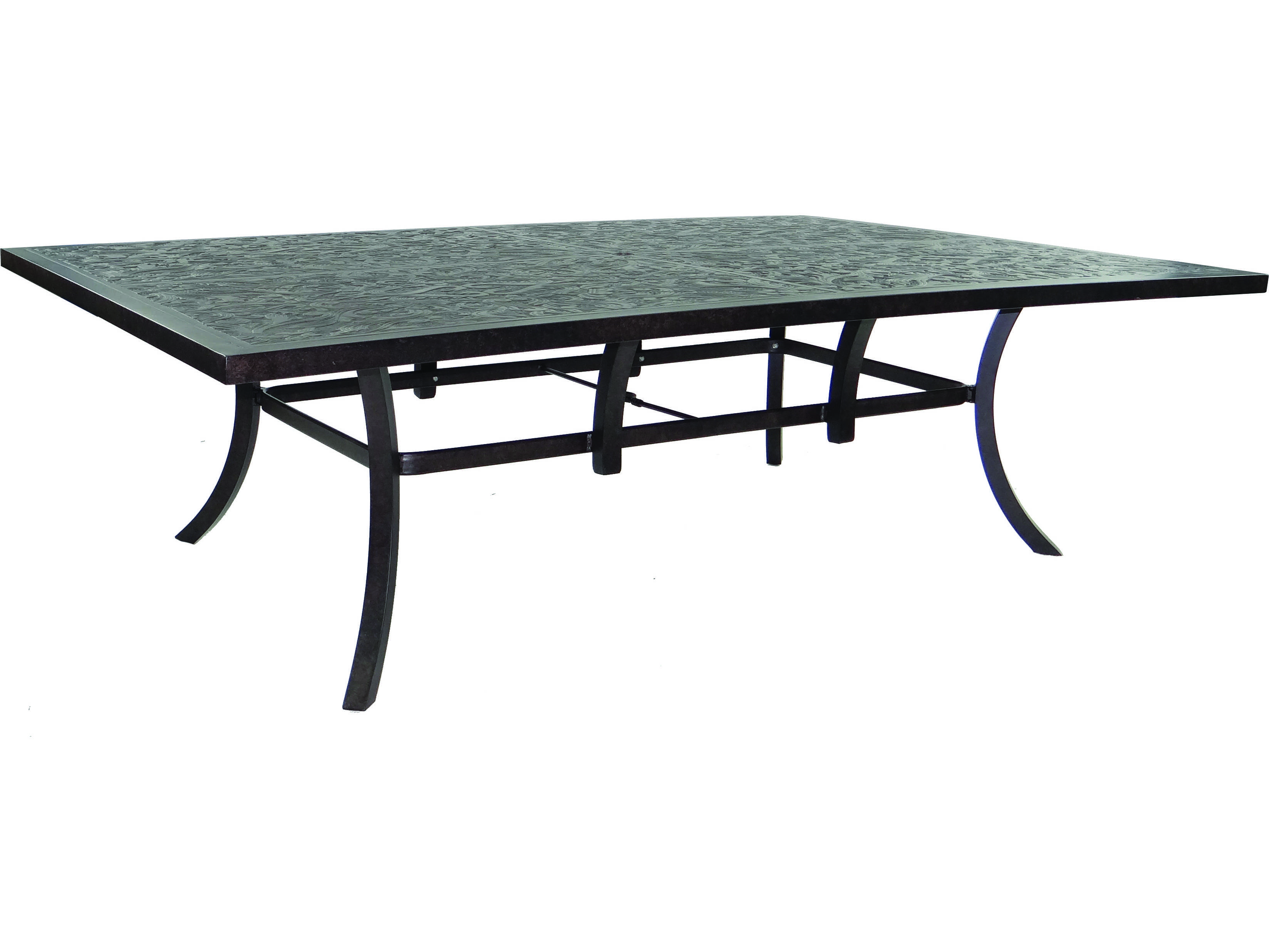 Castelle Classical Cast Aluminum 96 X 64 Rectangular Dining Table Ready To As