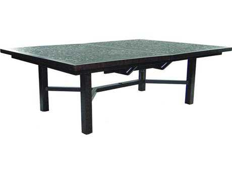 Castelle Classical Cast Aluminum 90-120W x 60D Rectangular Extension Dining Table Ready to Assemble