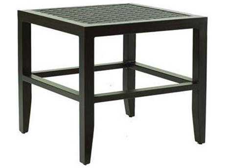 Castelle Classical Cast Aluminum 23.5 Square Side Table
