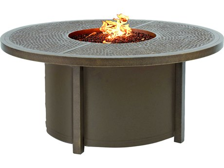 Castelle Altra Firepit Aluminum 49 Round Classical Coffee Table with Firepit and Lid