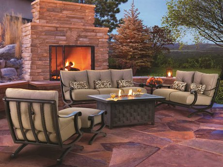 Castelle Telluride Deep Seating Cast Aluminum Lounge Set