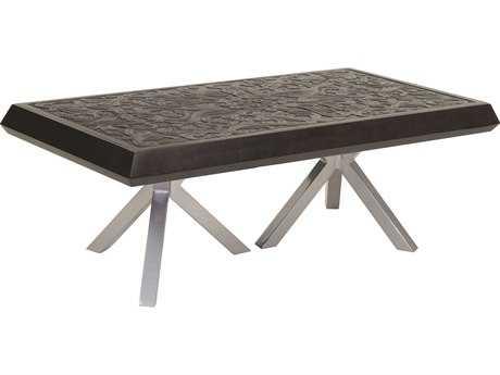 Castelle Altra Cast Aluminum 48 x 32 Large Rectangular Coffee Table