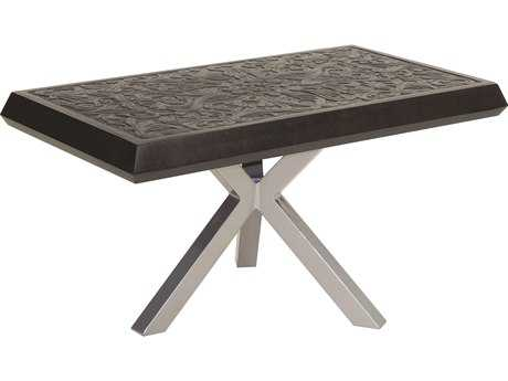 Castelle Altra Cast Aluminum 50 x 34 Small Rectangular Coffee Table