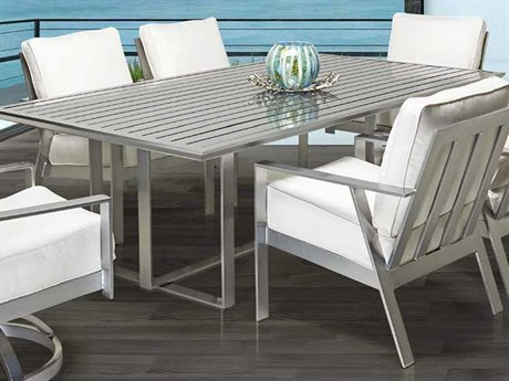 Castelle Trento Cushion Dining Cast Aluminum Casual Set