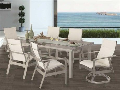 Castelle Trento Sling Cast Aluminum Dining Set