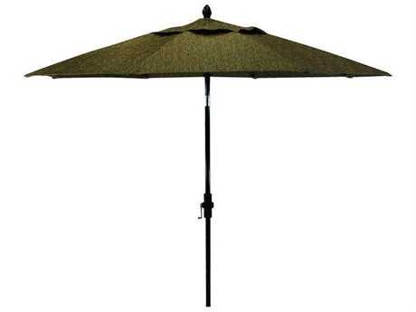 Castelle Aluminum 11 Ft. 8 Rib Market Umbrella with Main Pole In Premium Finish