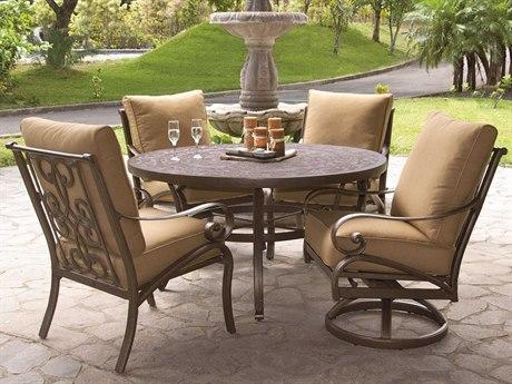 Castelle Veracruz Cast Aluminum Cushion Dining Set
