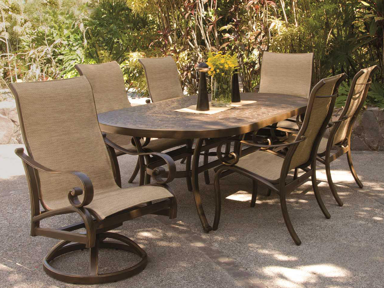 Castelle Veracruz Sling Cast Aluminum Dining Chair