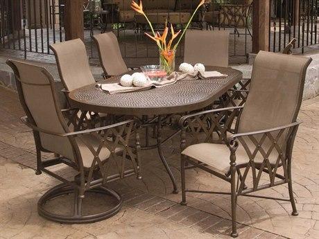 Castelle Veranda Sling Cast Aluminum Dining Set