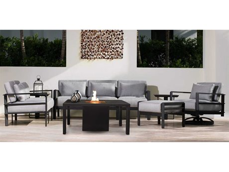 Castelle Vertice City Deep Seating Aluminum Conversation Lounge Set