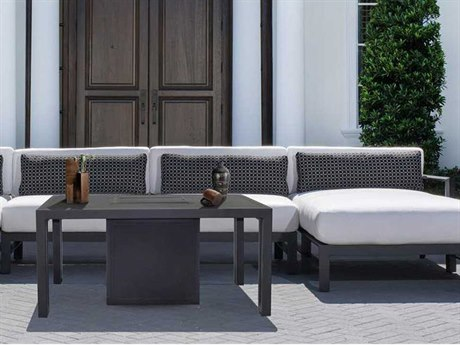Castelle Vertice City Sectional Aluminum Lounge Set