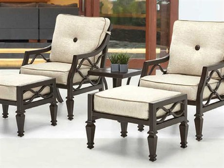 Castelle Villa Bianca Cushion Cast Aluminum Conversation Lounge Set