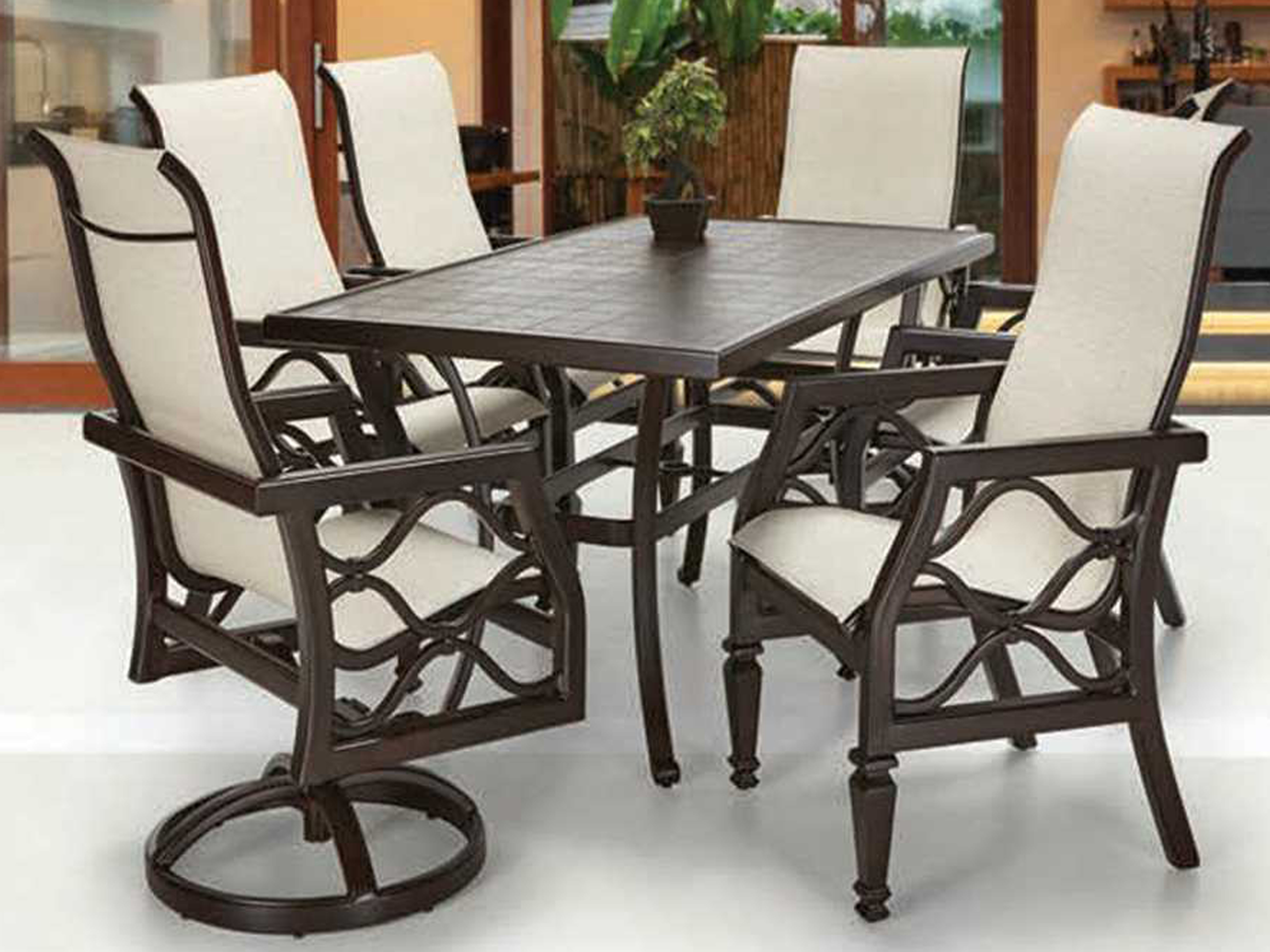 Castelle Vintage Cast Aluminum 86 X 44 Rectangular Dining Table Ready To Asse