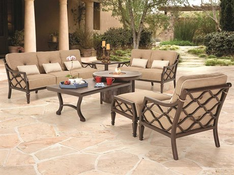 Castelle Villa Bianca Deep Seating Cast Aluminum Lounge Set