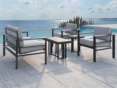 Castelle Vertice City Deep Seating Aluminum Lounge Set