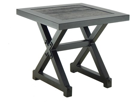 Castelle Oxford Aluminum 20W - 22W Square Side Table