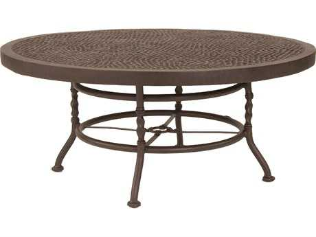 Castelle Bordeaux Cast Aluminum 42 - 44 Round Coffee Table PatioLiving