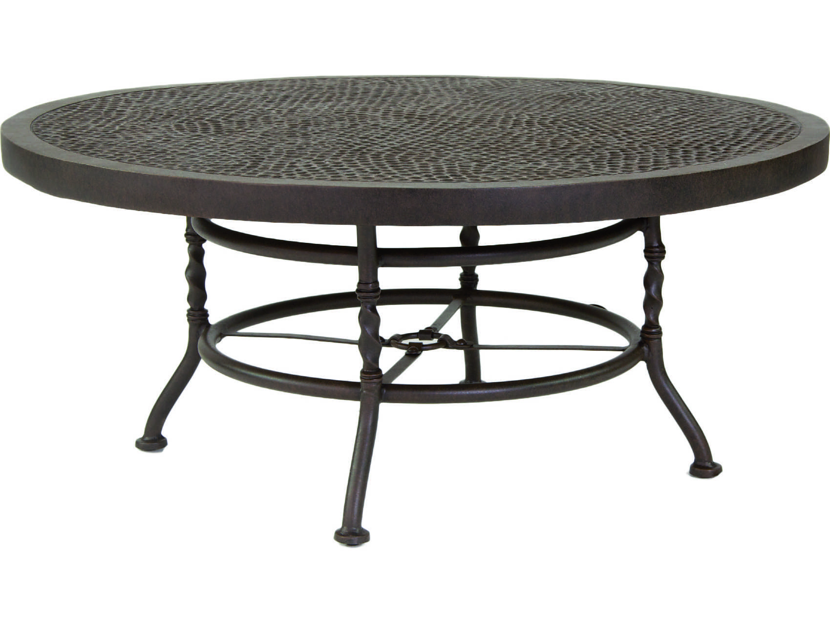 Castelle Veranda Cast Aluminum 42 44 Round Coffee Table Zcc42