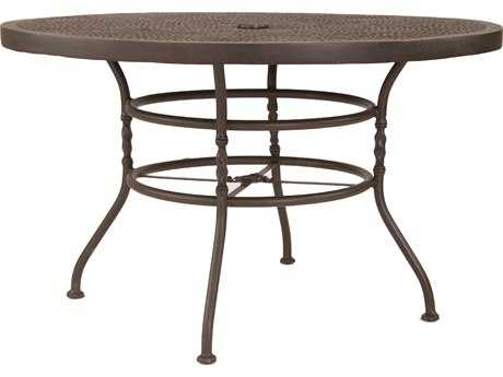 Castelle Bordeaux Cast Aluminum 48 - 49 Round Dining Table PatioLiving