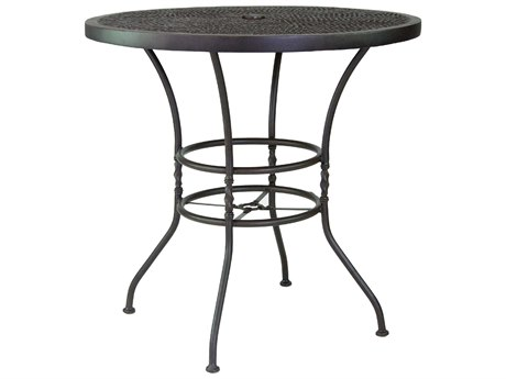 Castelle Bordeaux Cast Aluminum 42''Wide Round Bar Height Table