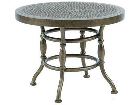 Castelle Bordeaux Cast Aluminum 24 - 26 Round Occasional Table PatioLiving