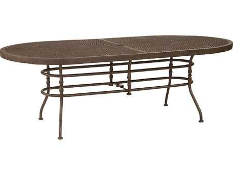 Castelle Veranda Cast Aluminum 84-86W x 44D Oval Dining Table