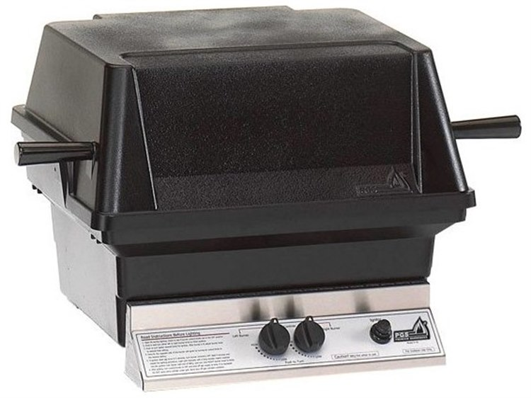 PGS Grills A30 Series Cast Aluminum Black Natural Gas BBQ Grill Head with Shelf