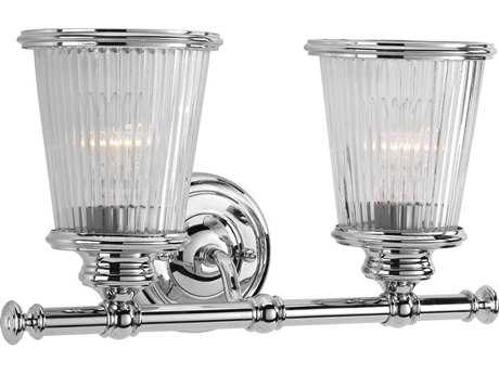 Progress Lighting Radiance Polished Chrome Two-Light Vanity Light (Sold in 2)