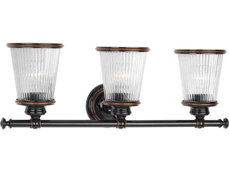 Progress Lighting Radiance Rubbed Bronze Three-Light Vanity Light