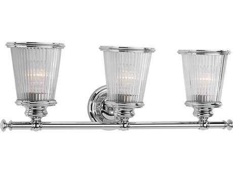 Progress Lighting Radiance Polished Chrome Three-Light Vanity Light