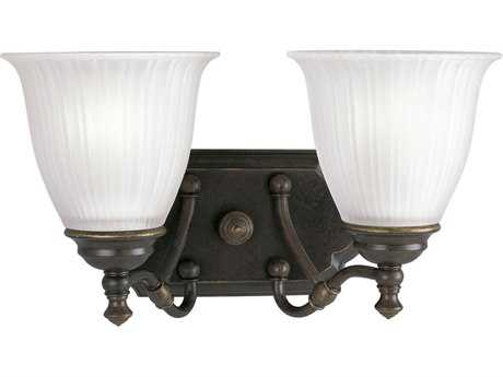 Progress Lighting Renovations Forged Bronze Two-Light Vanity Light