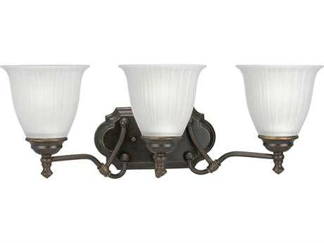 Progress Lighting Renovations Forged Bronze Three-Light Vanity Light