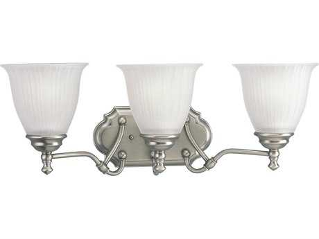 Progress Lighting Renovations Antique Nickel Three-Light Vanity Light